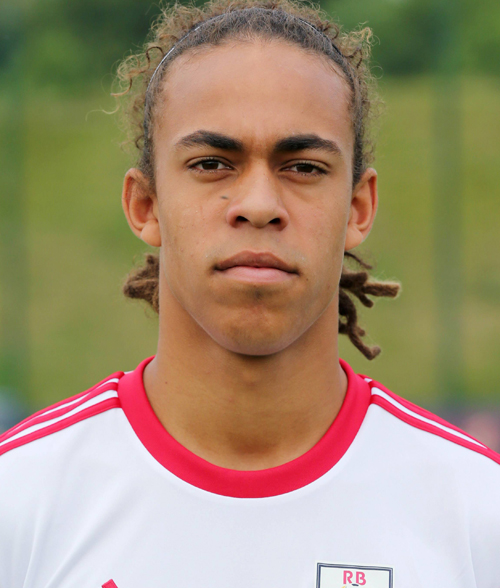 The 24-year old son of father (?) and mother(?), 193 cm tall Yussuf Poulsen in 2018 photo