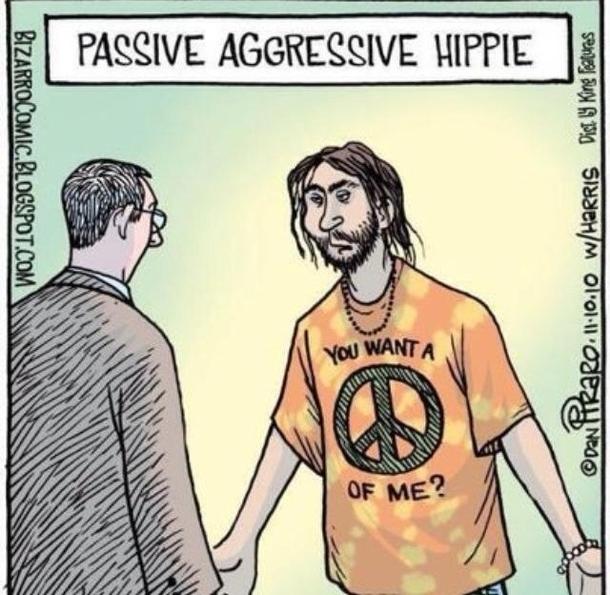 Passive aggressive hippy - Meme Guy