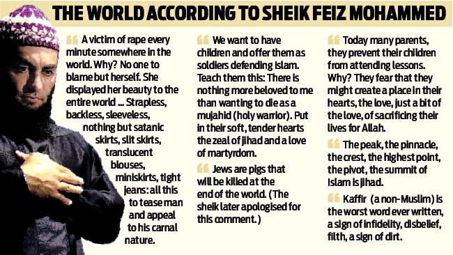 "The Australian Mahommed Feiz, the Islamist ""Sheik"" who was on the dead ..."