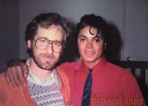 Michael and Steven Spielberg at Captain Eo - mjlyricsonly.com