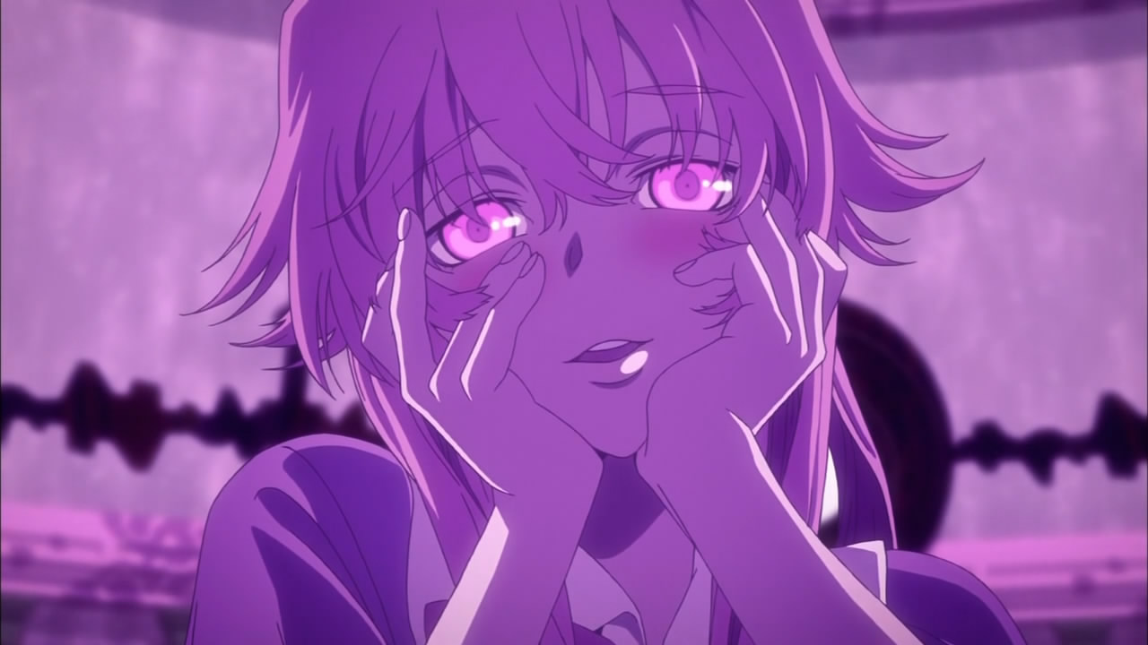 Mirai Nikki Ep. 1: Let's look into the future to cheat on ...