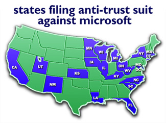 U.S., states sue Microsoft for antitrust - May 18, 1998