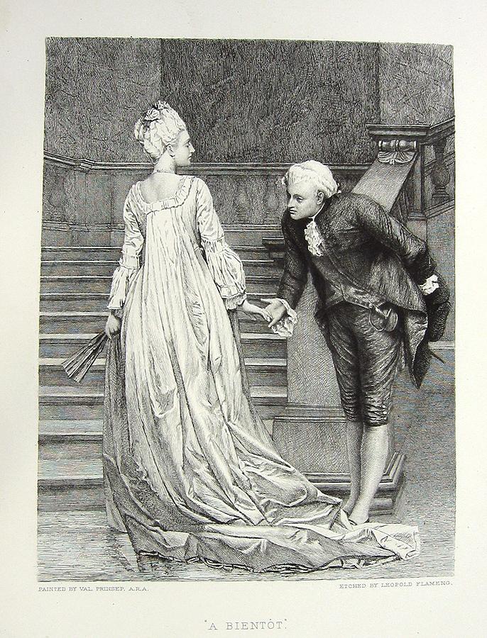 RICH FRENCH ARISTOCRAT GIRL in FANCY DRESS ~ Old Original ...