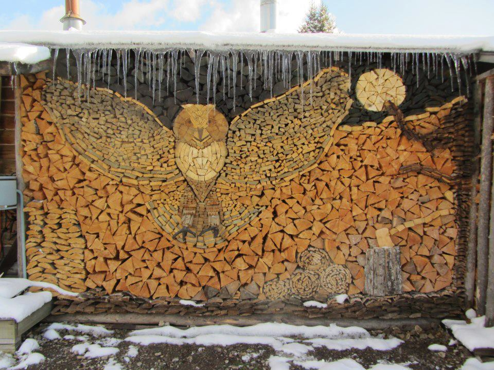 Decorating, Owl Wood-stack and The Snow Dog