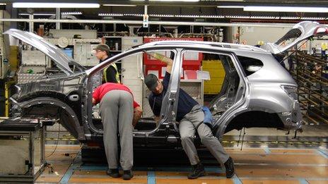 Nissan's Sunderland factory - Summer breaks drive UK car output 22% lower in August