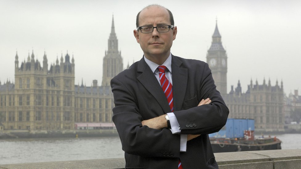 BBC News' Nick Robinson outside 10 Downing Street