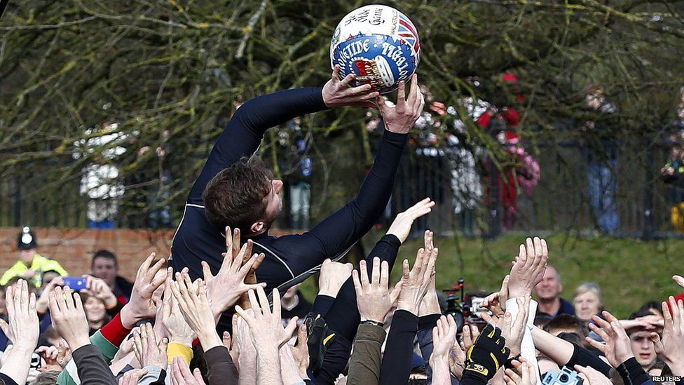 Ashbourne's annual Shrovetide football game in pictures ...