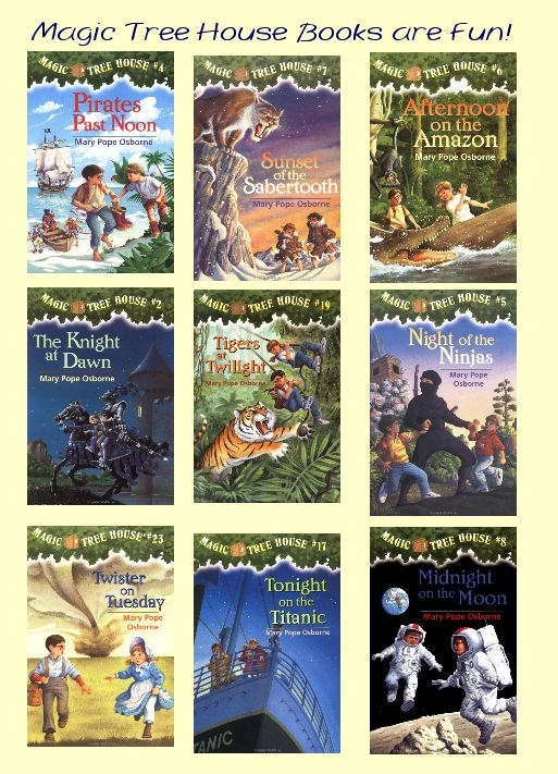 selection of The Magic Tree house Books