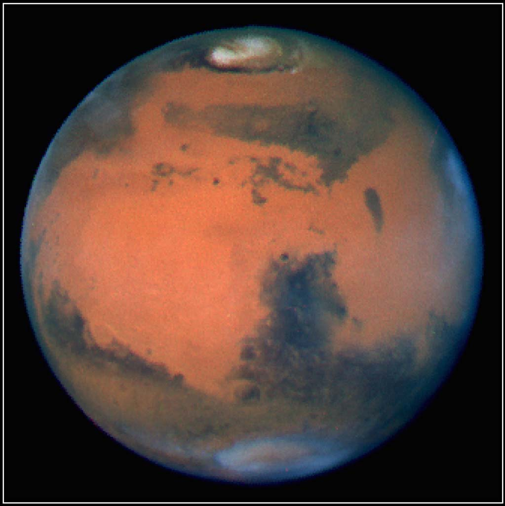Late spring on Mars (centered on roughly 305 degrees longitude).