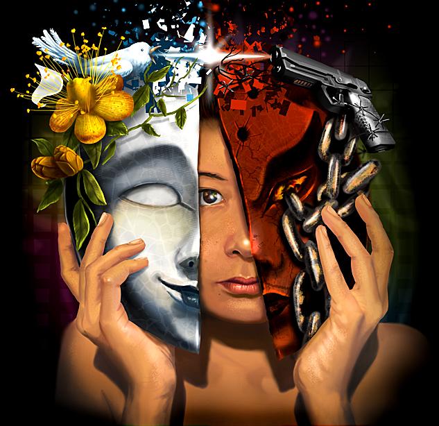 Good vs Evil by Saibel on DeviantArt