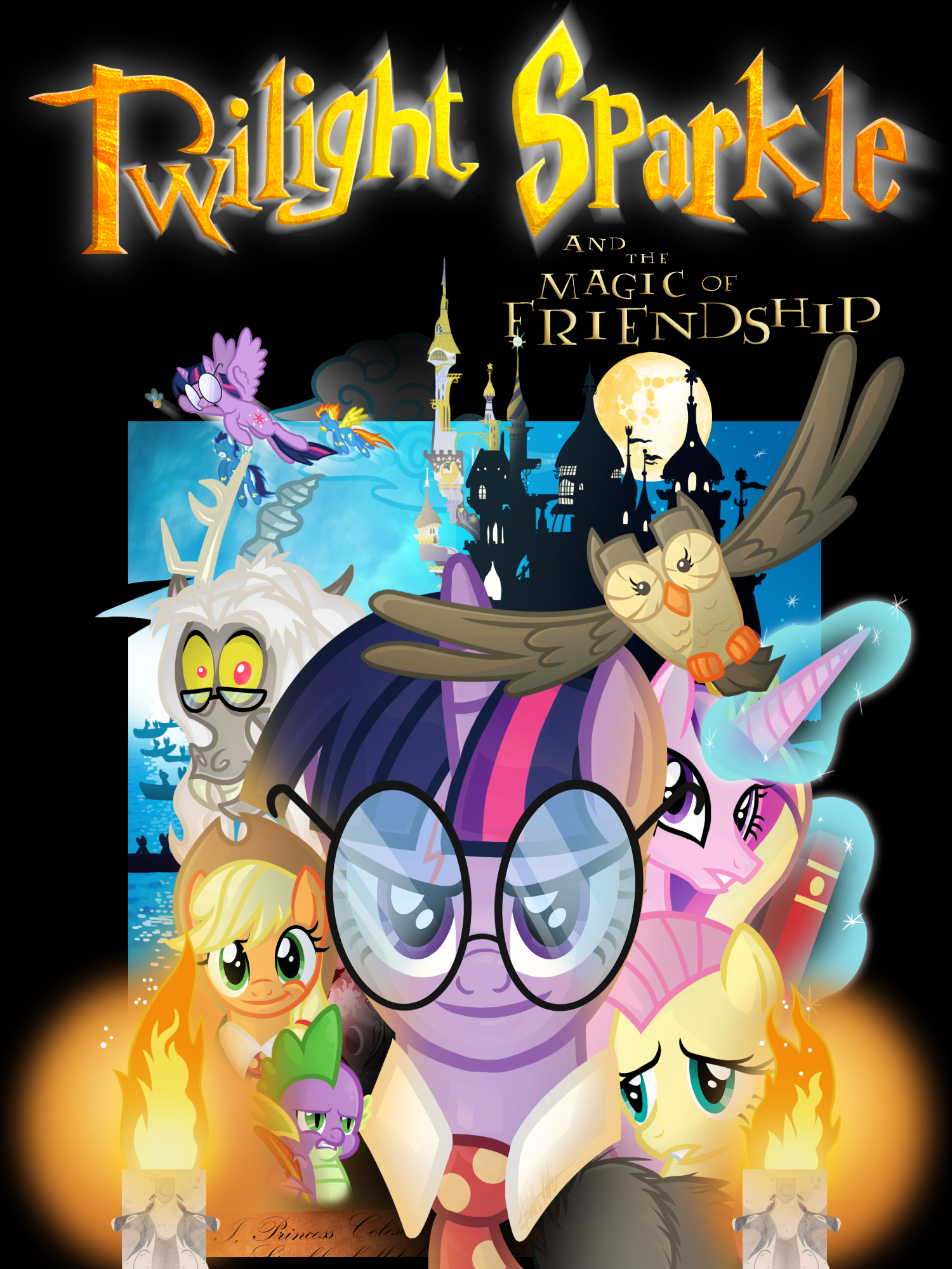 My Little Pony/Harry Potter 1 Poster by Knadow-the-Hechidna on DeviantArt