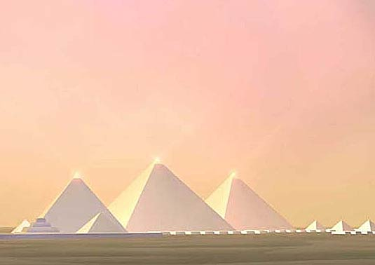 pyramids-white-giza photocredit/thanks:thepinsta