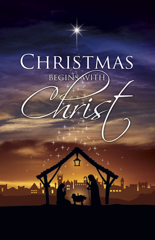 Christmas Begins Christ Postcard - Church Postcards ...