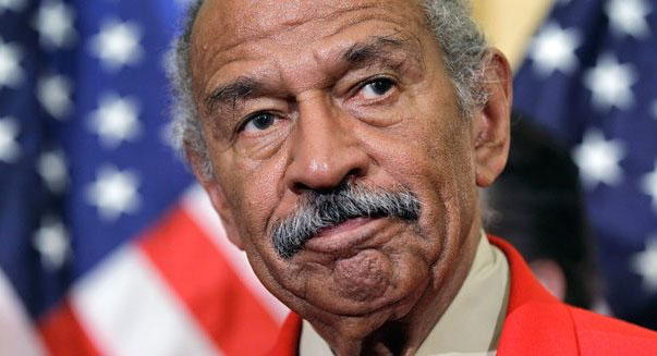 John Conyers puts down the Playboy long enough to respond ...