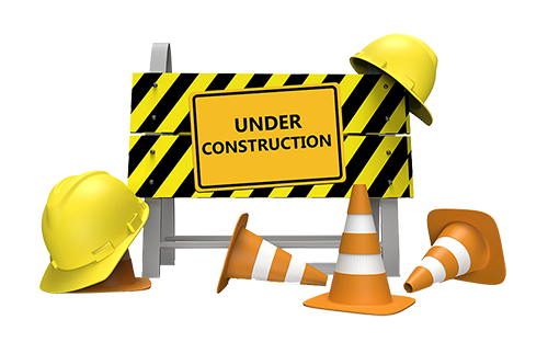 Under construction PNG images label free download