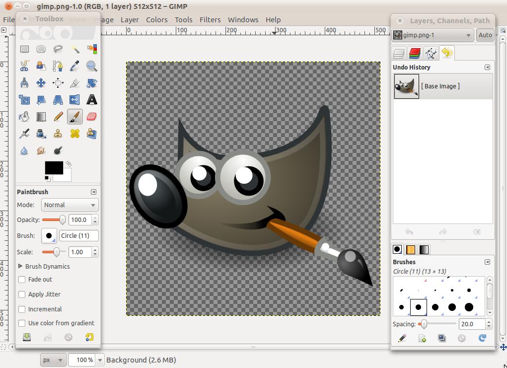GIMP 2.6.11 to bardzo zaawansowany i przydatny program graficzny ...