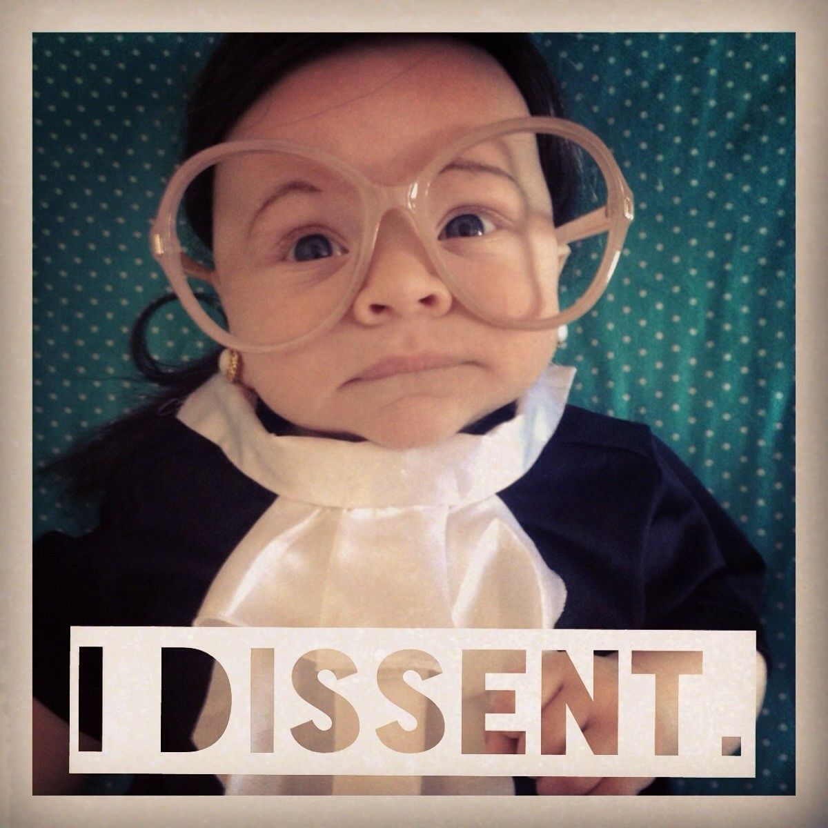 Baby's Halloween costume does Ruth Bader Ginsburg justice