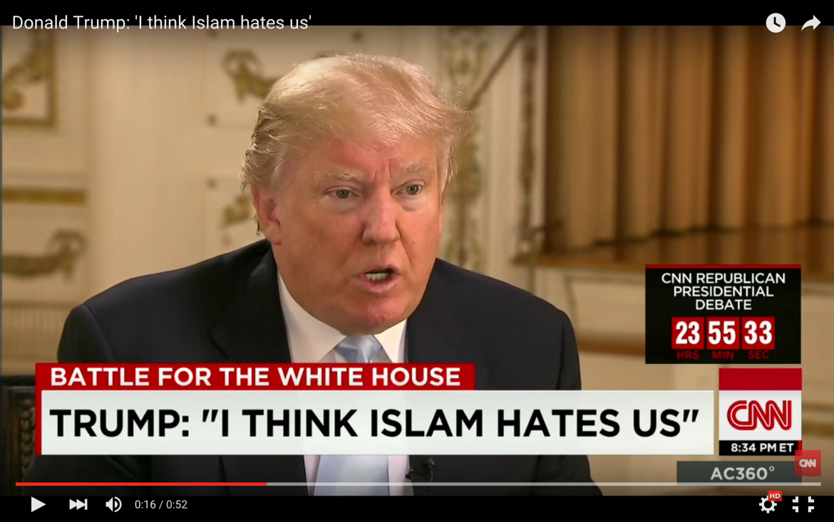 "Donald Trump says ""Islam hates us,"" but a nine-year-old ..."