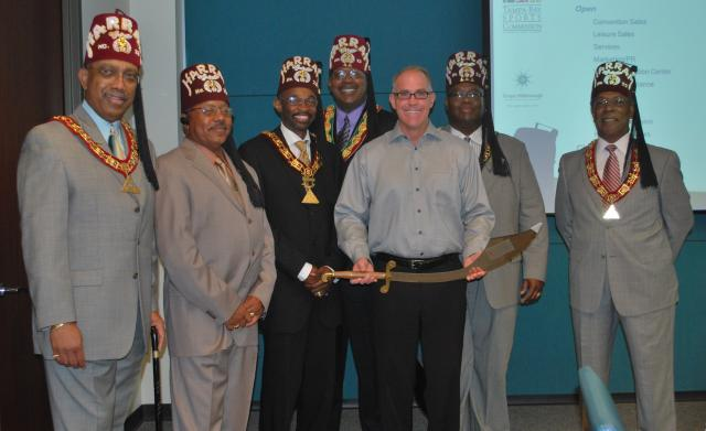 VICE PRESIDENT OF SALES RECOGNIZED WITH SCIMITAR SWORD...