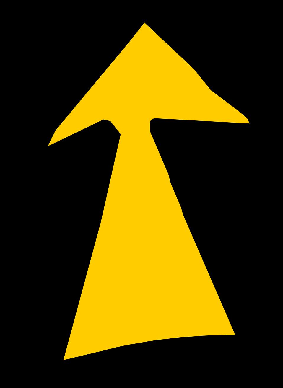 Arrow Yellow | Free Stock Photo | Illustration of a yellow ...
