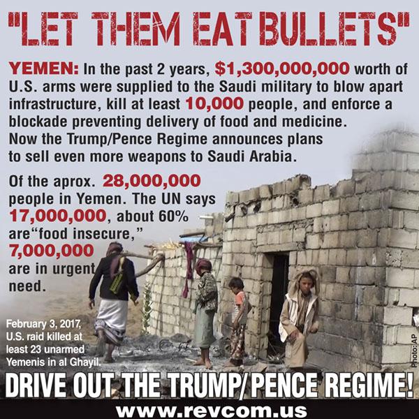 Yemen: Trump Regime Prepares to Slash Aid to a U.S.-Caused Famine