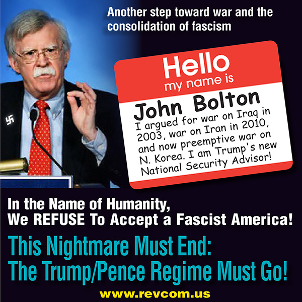 Trump Names America First, Fascist Warmonger John Bolton ...