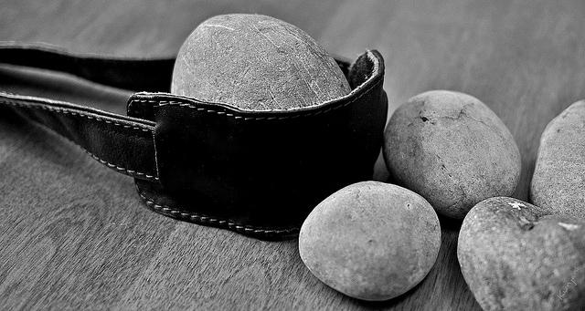 David's 5 stones and slingshot