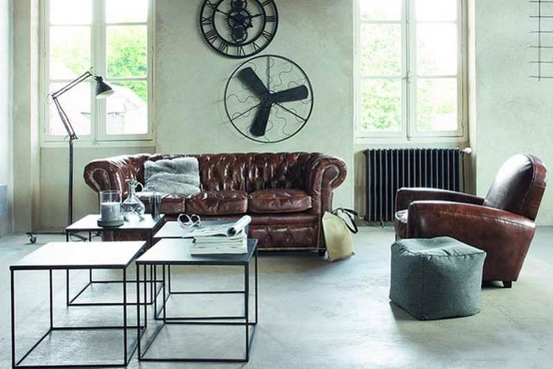15 Stunning Industrial Living Room Designs - Rilane