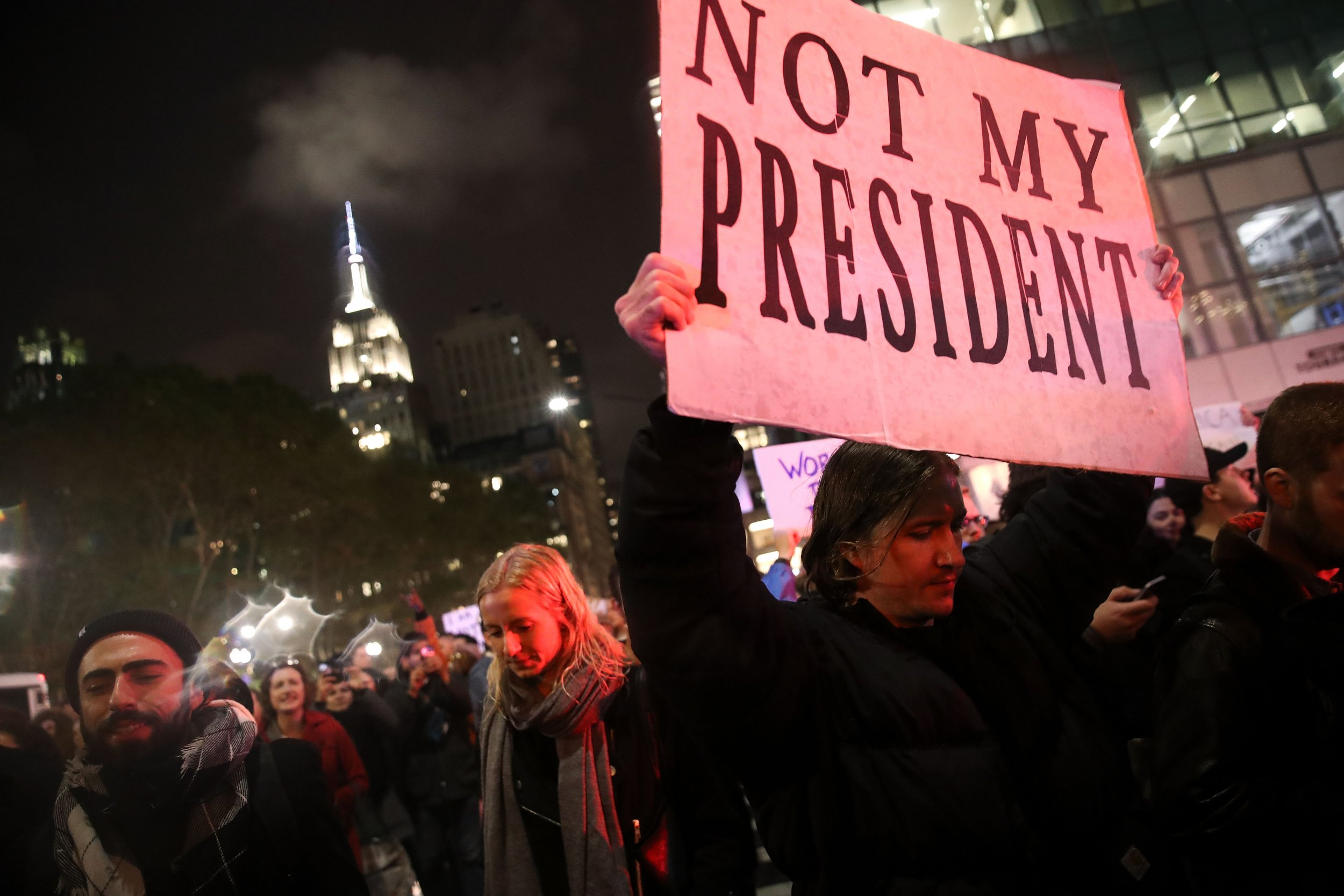 ... Our President:' Protests Against Donald Trump in Several U.S. Cities