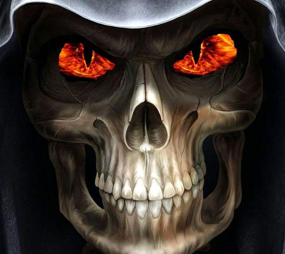 Flaming skull backgrounds - SF Wallpaper