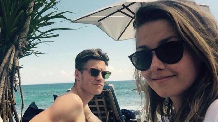 Wout Weghorst with Girlfriend Nikki van Esch