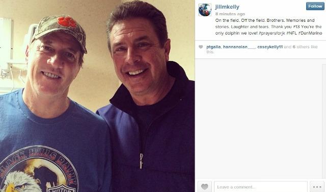 PHOTO: Dan Marino visits pal Jim Kelly in the hospital - CBSSports.com