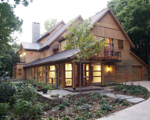 Cedar Siding Metal Roof Home Design Ideas, Pictures, Remodel and Decor