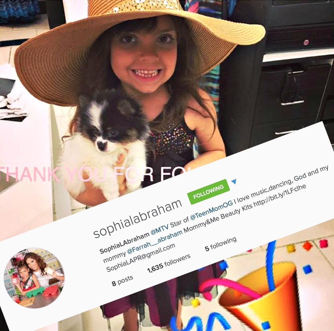 Farrah Abraham creates an Instagram account 6-year-old ...