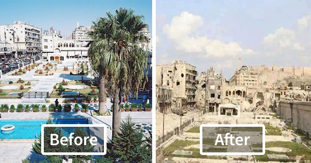 10+ Before-And-After Pics Reveal What War Did To The ...