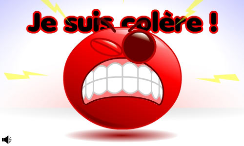 Carte Smiley - Colère - CyberCartes.com