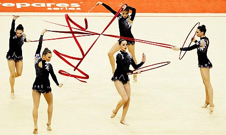 Six gymnasts, a knotted ribbon and one big headache for ...