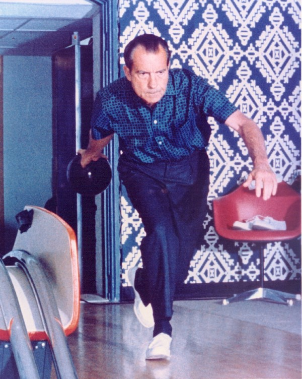 Bowling with Mr. President beneath the White House