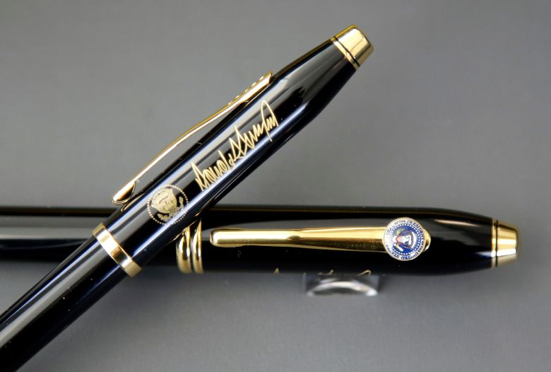 Trump, fond of executive orders, awaits more fancy pens ...
