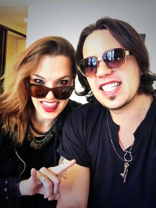 Lzzy Hale with Ragazzo Joe Hottinger