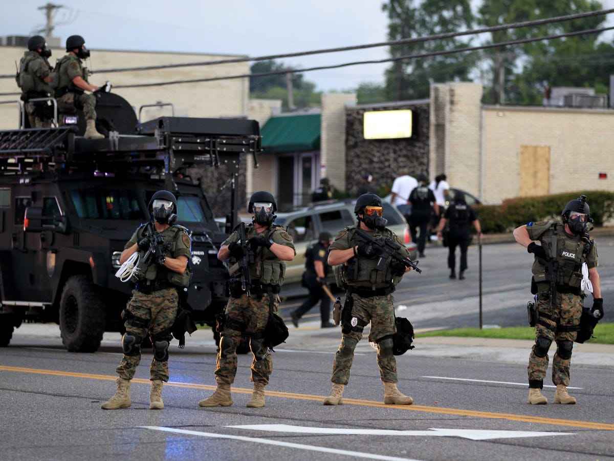 Police in Ferguson Missouri