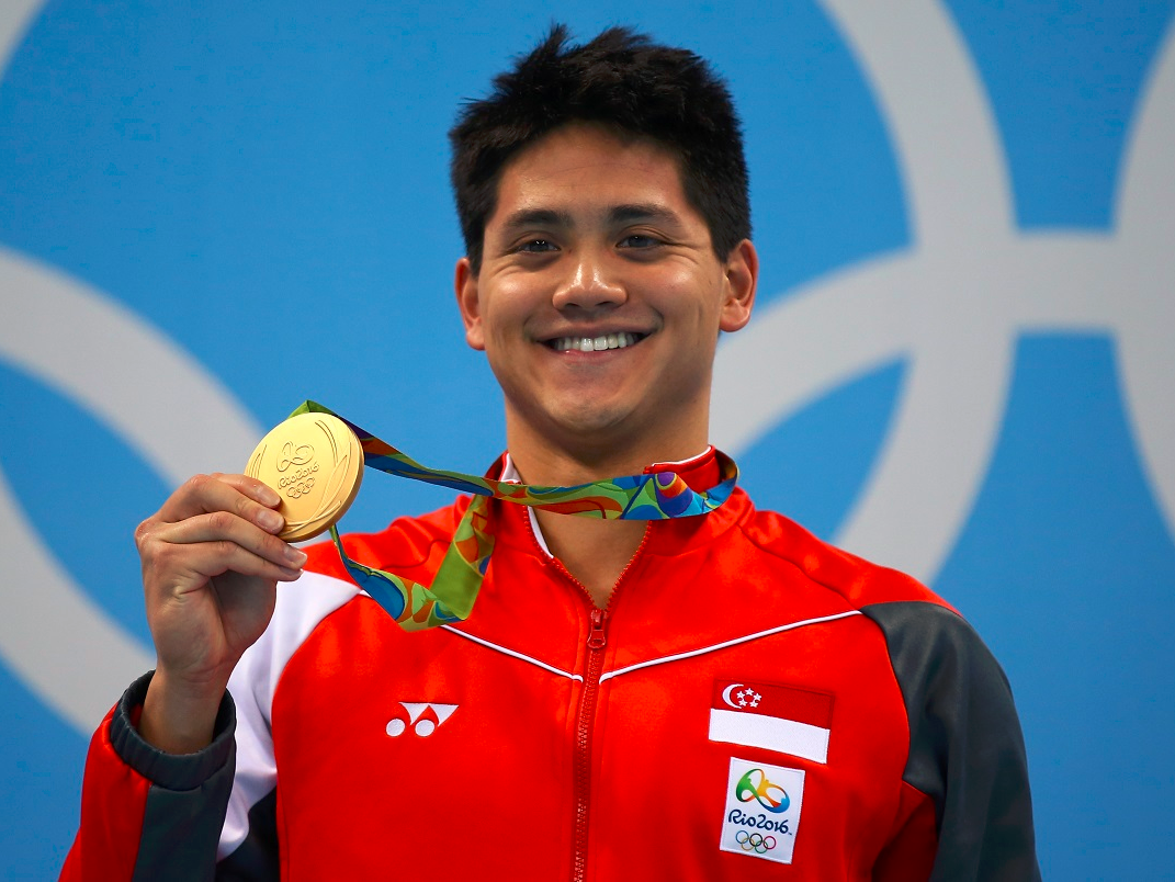 Il 21-anni, 183 cm alto Joseph Schooling in 2017 photo