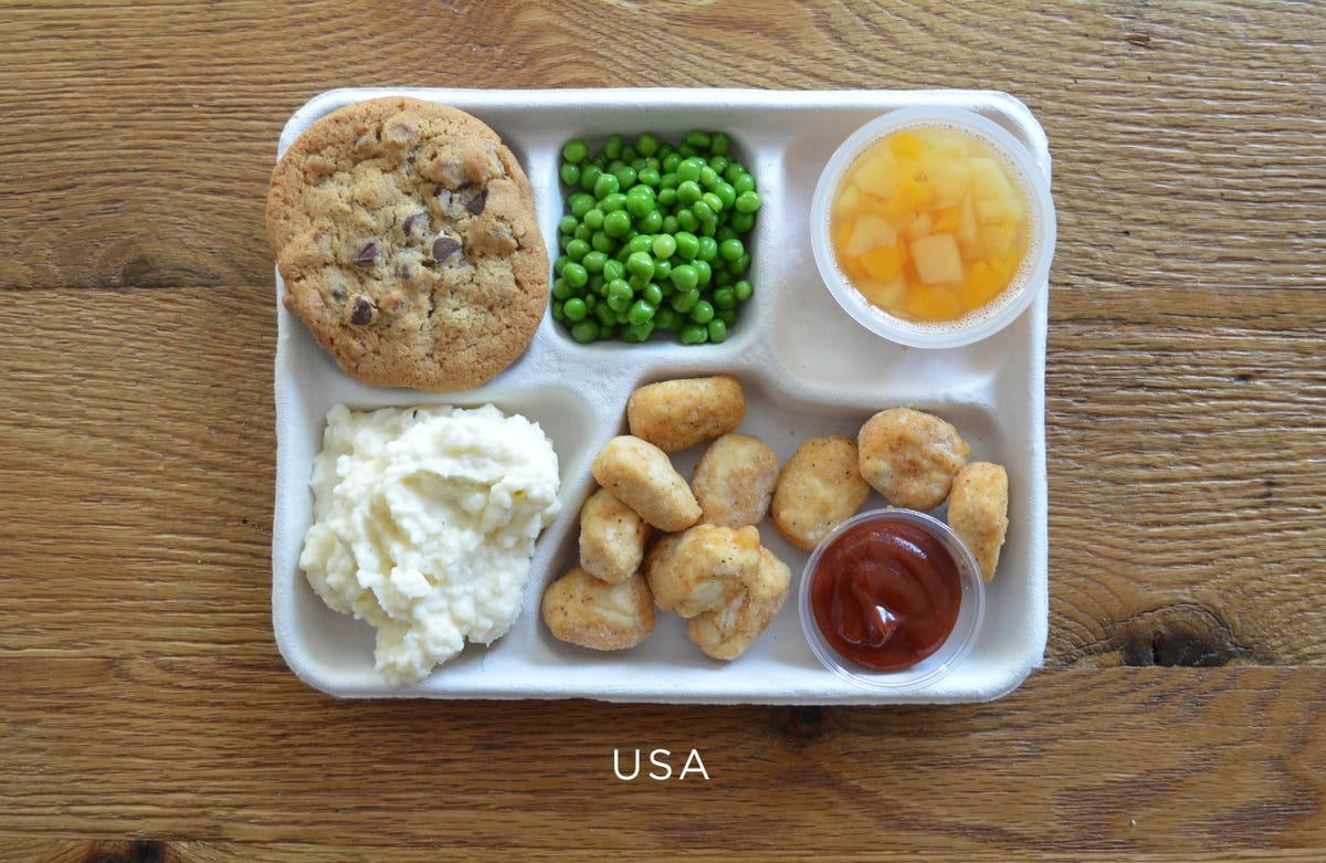 school lunches in the US compared to other countries ...