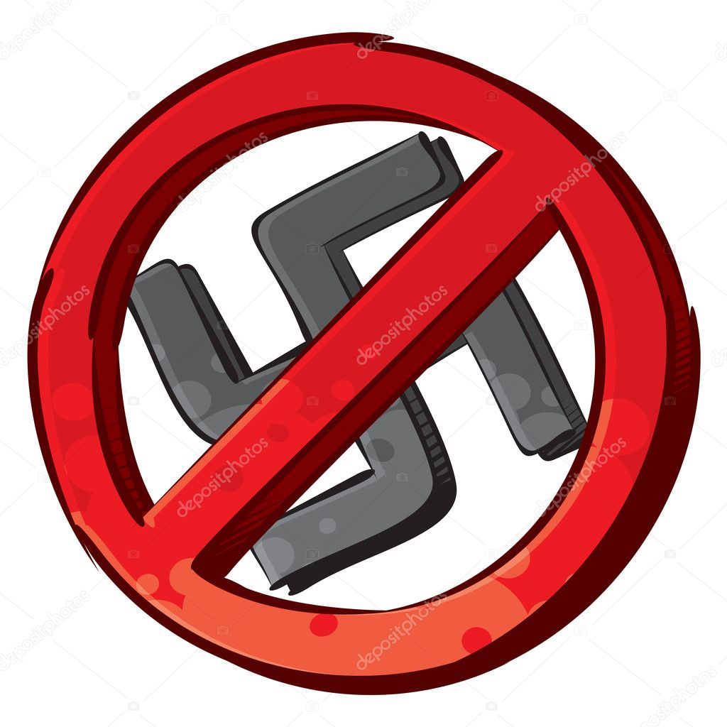No nazi symbol — Stock Vector © oxygen64 #8184073