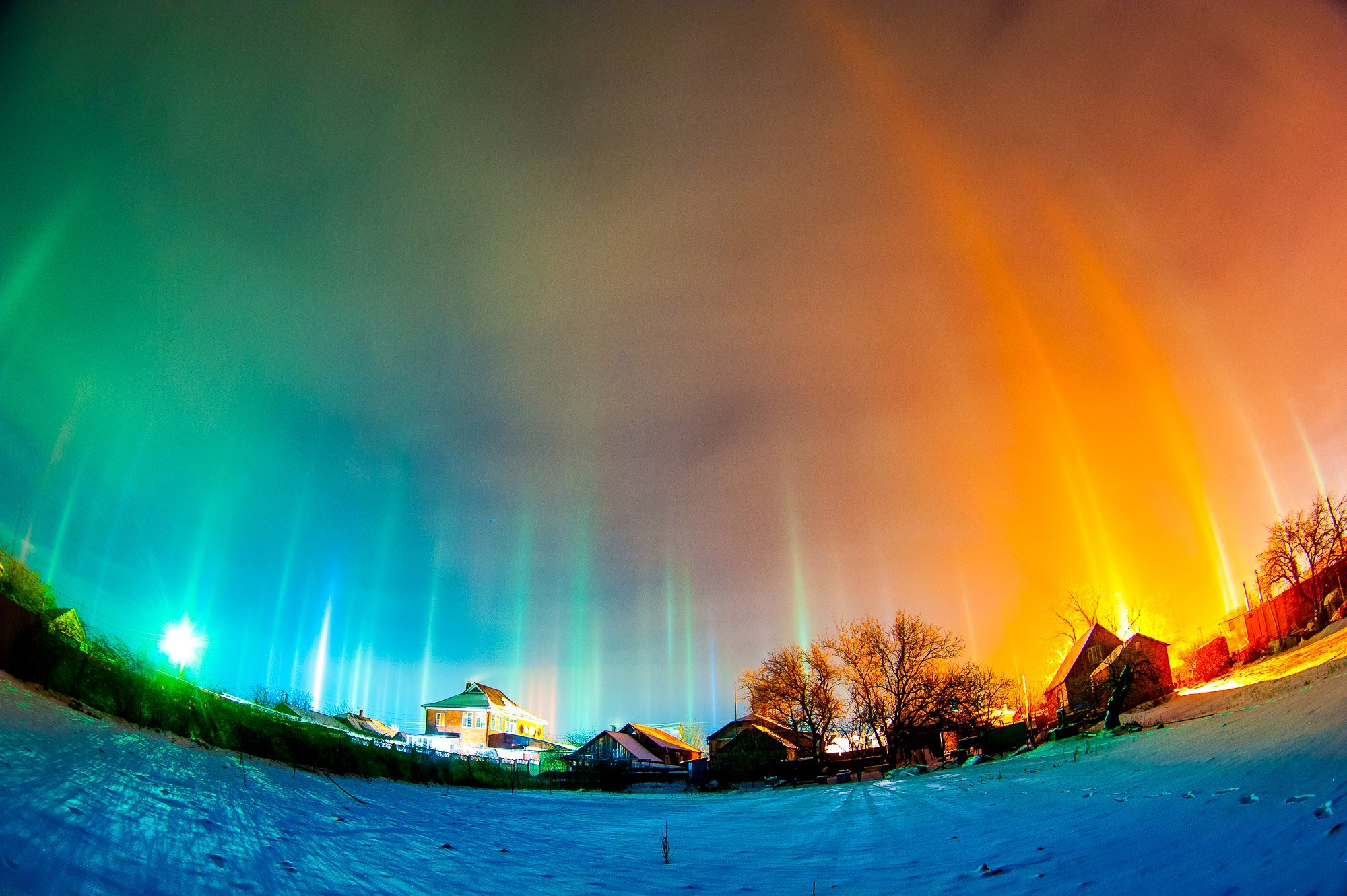 Glowing interdimensional portals open up in the sky of ...