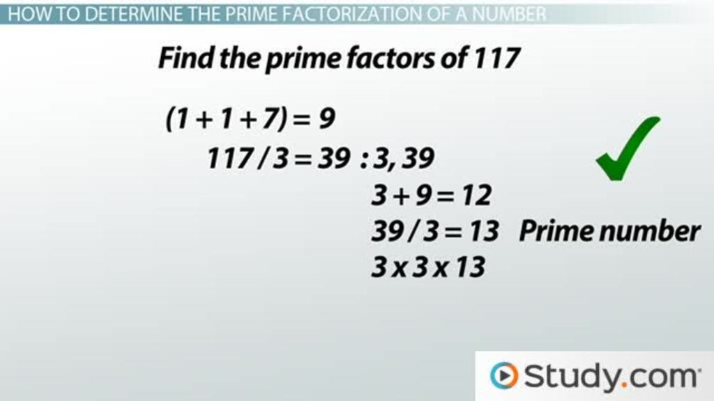 How to Find the Prime Factorization of a Number - Video & Lesson ...