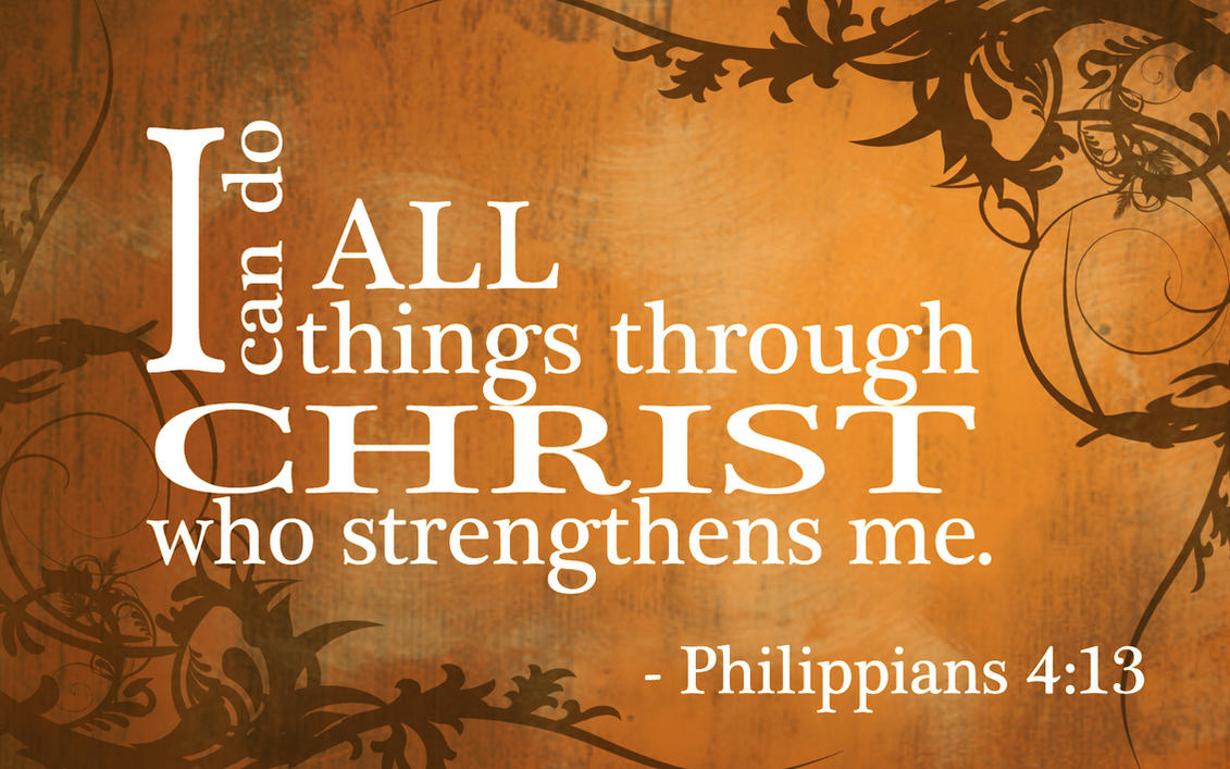 Rain's Voice : I can do everything through Jesus! -Philippians 4:13