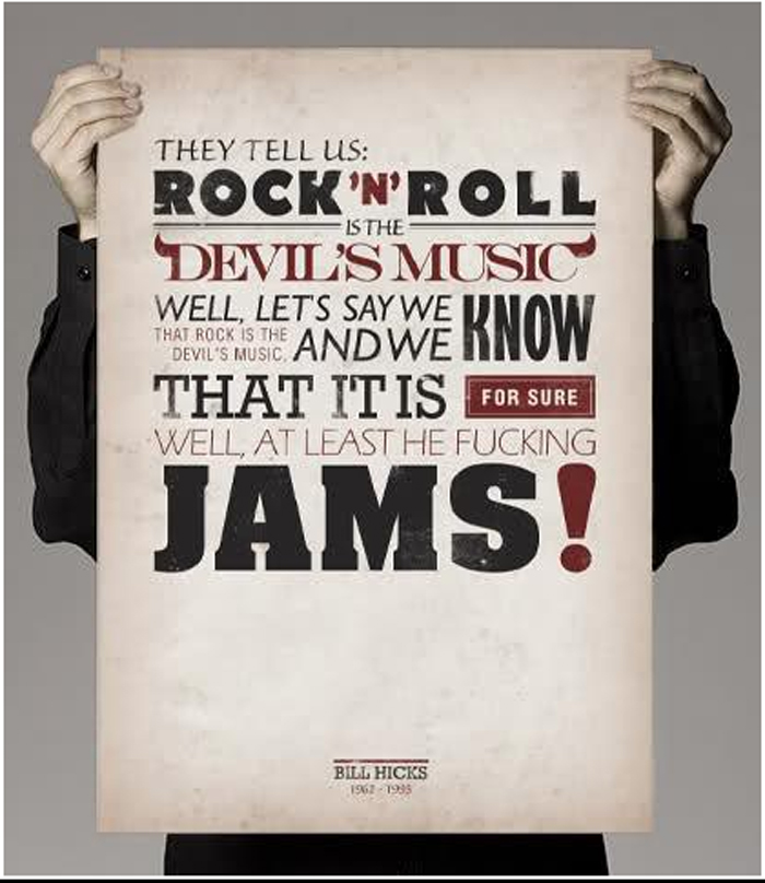 ... rock n roll is the devil s music well let s say we know that rock is