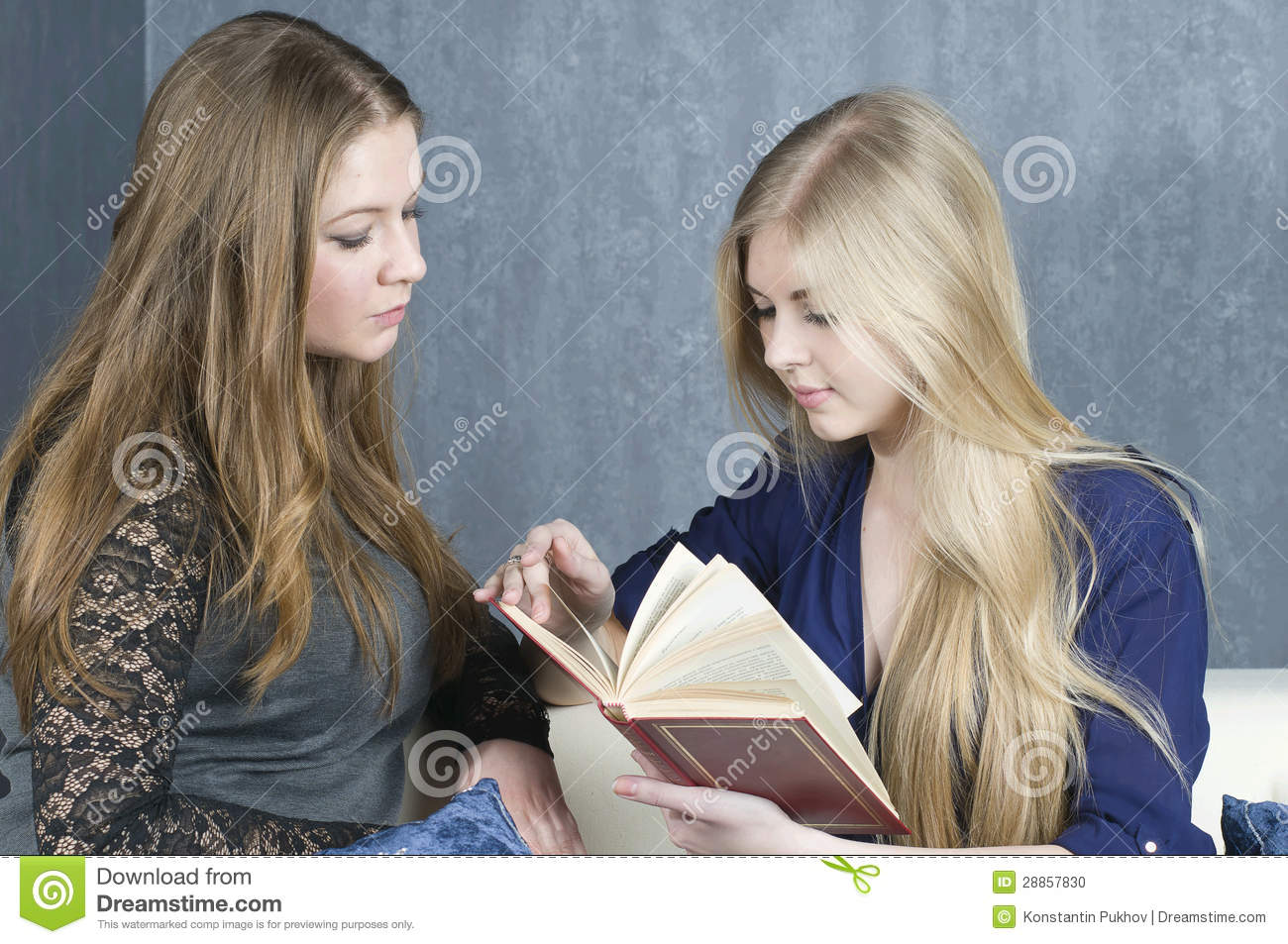 Girl Friend Read The Book Stock Photo - Image: 28857830