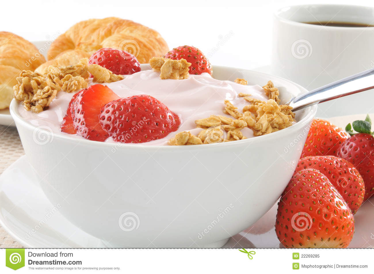 Healthy Low Fat Breakfast Royalty Free Stock Photo - Image ...